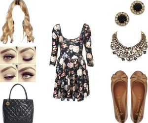 clothes, floral, and girl image