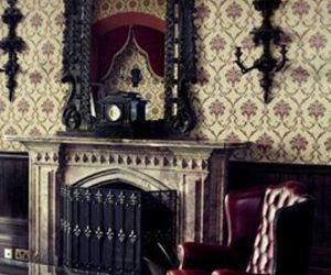 gothic, fireplace, and mirror image