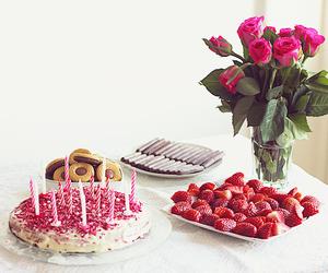 birthday, brunch, and cake image