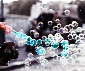 bubbles, blue, and photography image