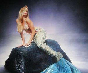 mermaid, blonde, and model image