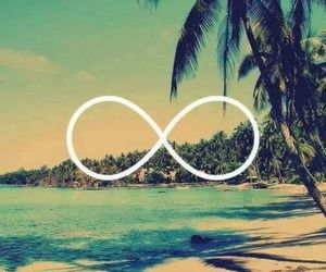 beach, forever, and infinity image