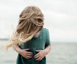 girl, blonde, and child image
