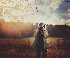 camera, girl, and photo image
