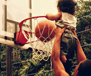 Basketball, baby, and basket image