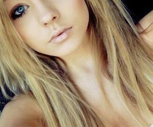 girl, blonde, and blue eyes image