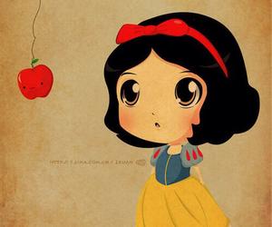 snow white, apple, and disney image