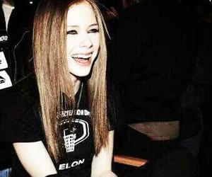 Avril Lavigne, smile, and rock image