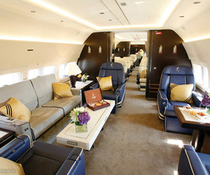 luxury, plane, and VIP image