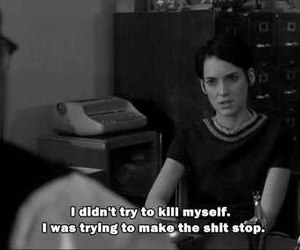 girl interrupted, sad, and suicide image