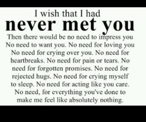 never, quotes, and heartbreak image