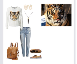 animal print, outfit, and Polyvore image