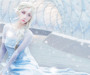 elsa, cosplay, and frozen image