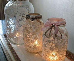 light, lace, and candle image