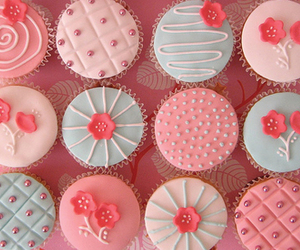 cupcake, pink, and yummy image