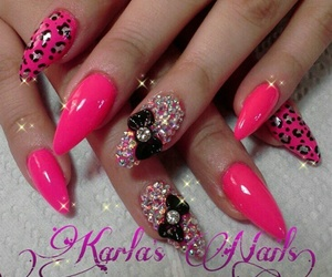 nails, bow, and kawaii image