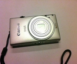 camera, canon, and ixus image