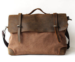 bag, brown, and hipster image