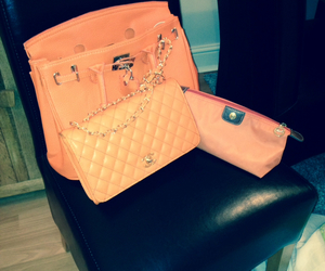 bags, chanel, and orange image