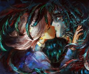 howl's moving castle, kiss, and gibli image