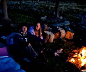 camp, night, and dark image