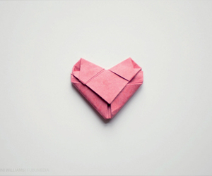 heart, origami, and pink image