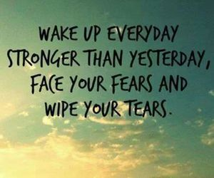 strong, wake up, and yesterday image
