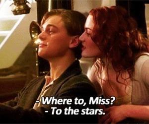 titanic, love, and stars image