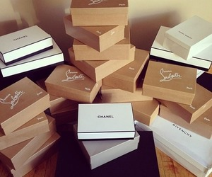 chanel, shopping, and louboutin image