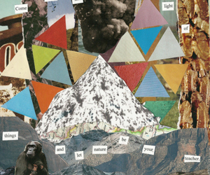 Collage, triangles, and typography image