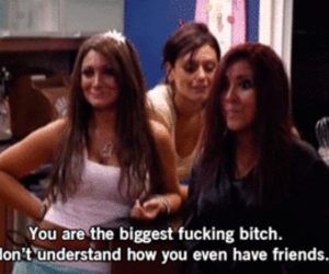 bitch, snooki, and jersey shore image