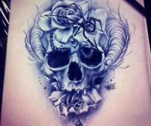 skull and tattoo image