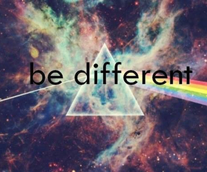 different, be different, and rainbow image