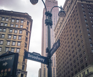 new york, broadway, and street image