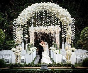 wedding, beautiful, and flowers image