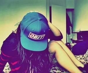 caps, obey, and black image