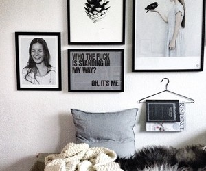black, white, and decor image