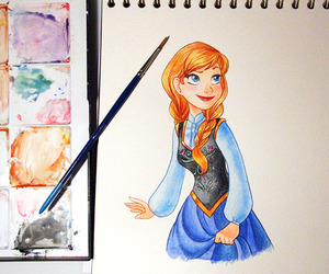 anna, fan art, and frozen image