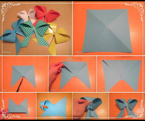 bow, diy, and origami image