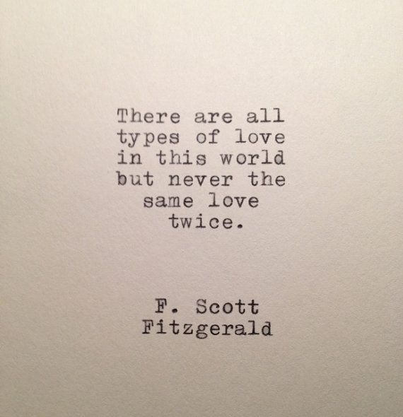 F Scott Fitzgerald Love Quote Made On Typewriter Words To Live