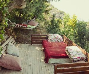 nature, bed, and relax image