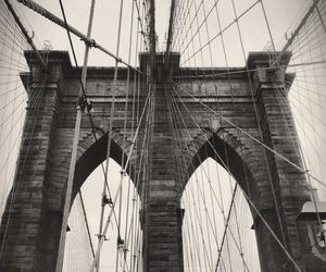 black and white, photography, and bridge image