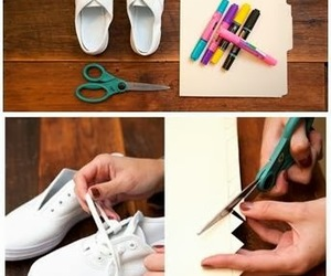 shoes, diy, and crafts image