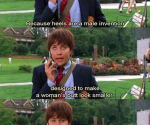 she's the man, funny, and heels image