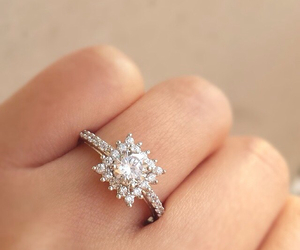engagement ring, diamond, and bride to be image