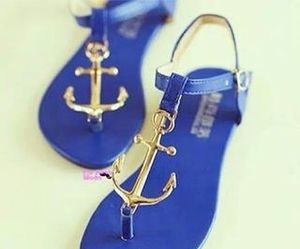 blue, shoes, and anchor image