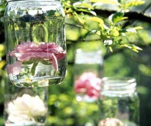 flowers and mason jars image