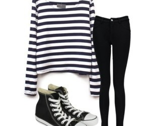 black, casual, and clothes image