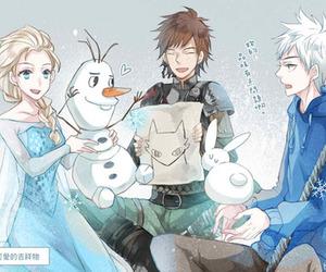 jack frost, elsa, and disney image