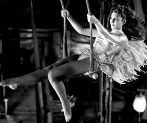 girl, trapeze, and wings of desire image
